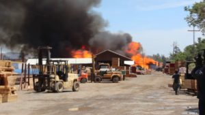 pallet factory fire